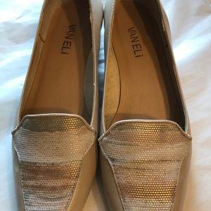 Vaneli Desert Multi-Tone Patent Pearl Flats Size 6
